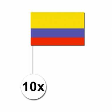 10 zwaaivlaggetjes colombiaanse vlag