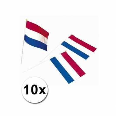 10 zwaaivlaggetjes hollandse vlag