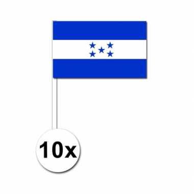 10 zwaaivlaggetjes hondurase vlag