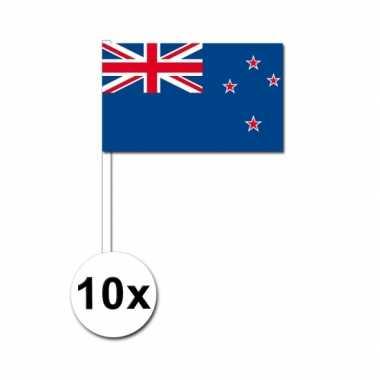 10 zwaaivlaggetjes nieuw zeelandse vlag