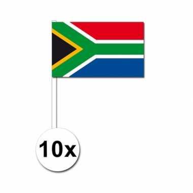 10 zwaaivlaggetjes zuid afrikaanse vlag