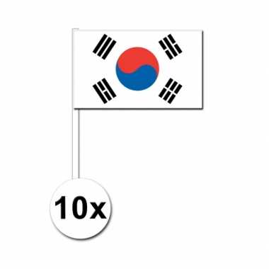 10 zwaaivlaggetjes zuid koreaanse vlag