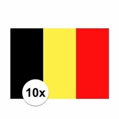 10x stuks stickers belgische vlag