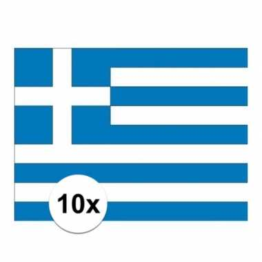 10x stuks stickers griekse vlag