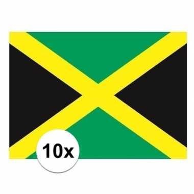 10x stuks stickers jamaica vlag
