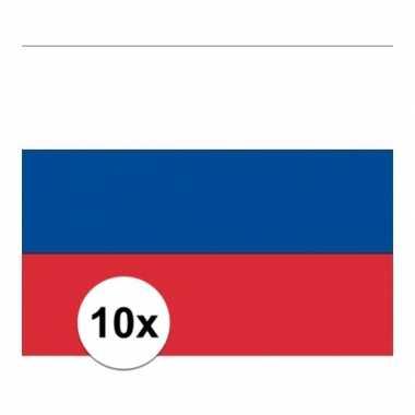10x stuks stickers russische vlag