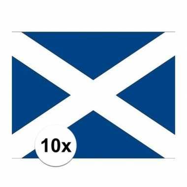 10x stuks stickers schotse vlag