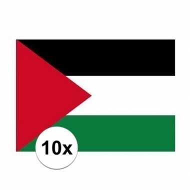 10x stuks stickers vlag palestina