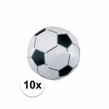 10x voetbal strandballen 30