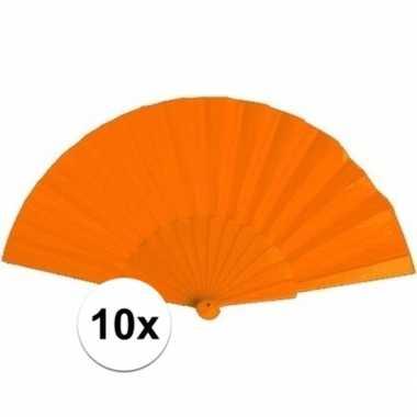 10x waaiers oranje 23