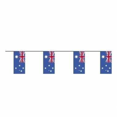 2 stuks papieren vlaggetjes slingers vlaggen australie