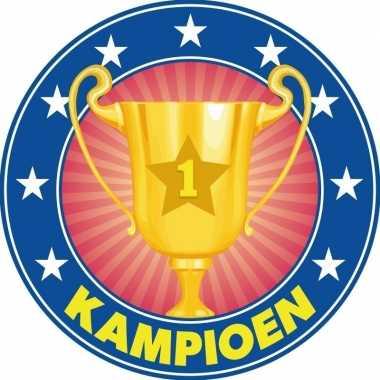 25x bierviltjes kampioenen trofee/prijs/bokaal karton