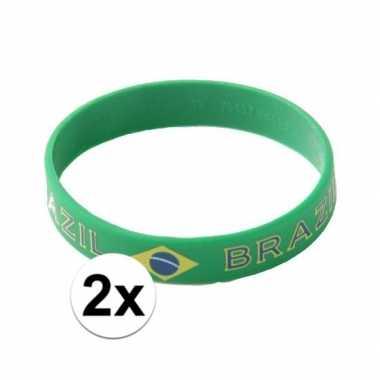 2x brazilie armbandje