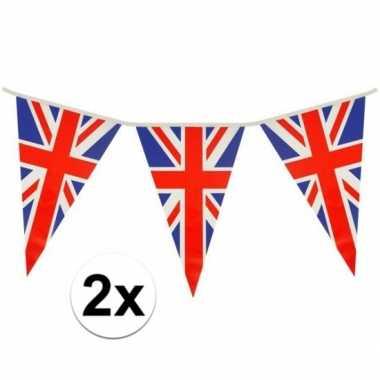 2x driehoeks vlaggenlijn groot brittannie 7mt