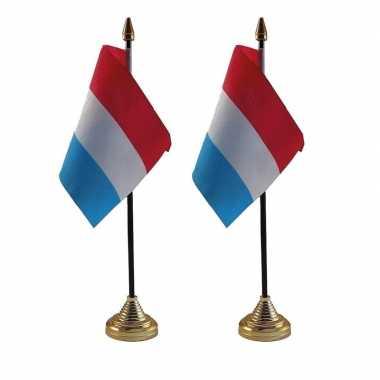 2x polyester nederlandse vlag standaard bureau 10 15