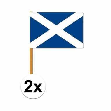 2x schotse zwaaivlaggen