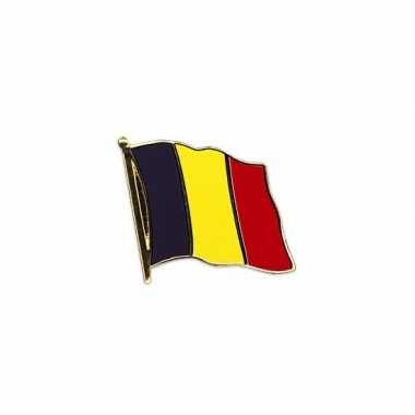 2x stuks pin speldjes vlag belgie