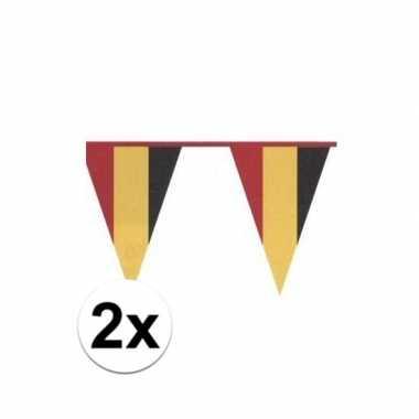2x vlaggenlijn belgische kleuren