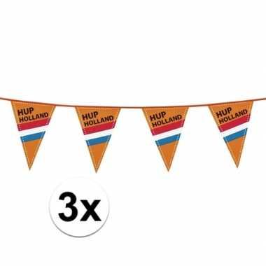 3stuks vlaggenlijn oranje/rood/wit/blauw 40m