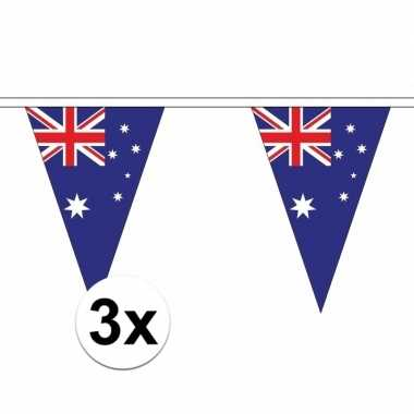 3x australie versiering vlaggenlijn 5 m