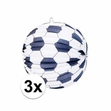 3x lampionnen voetbalmotief