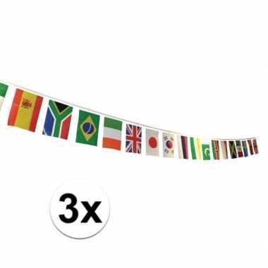 3x multi nationale vlaggenlijn