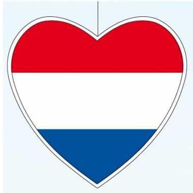3x stuks nederlandse vlag hartjes