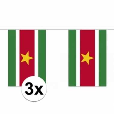 3x suriname slingers vlaggetjes