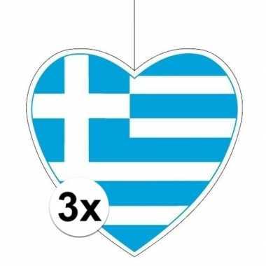 3x thema griekenland hangversiering hart 28