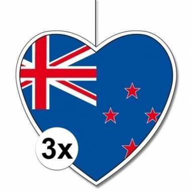 3x thema nieuw zeeland hangversiering hart 28