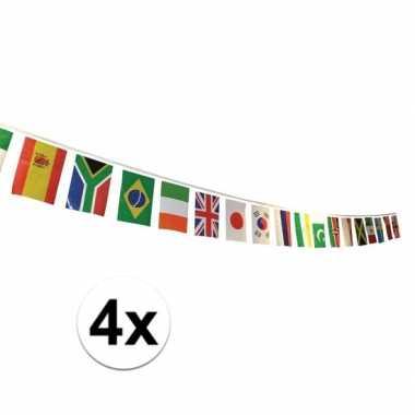 4x multi nationale vlaggenlijn