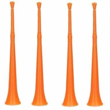 4x oranje vuvuzela toeters 48