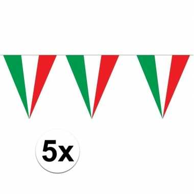 5 stuks italiaanse vlaggenlijnen 5 meter