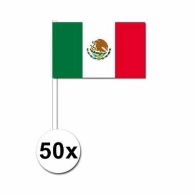 50 zwaaivlaggetjes mexicaanse vlag