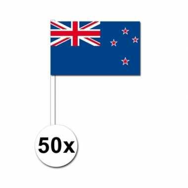 50 zwaaivlaggetjes nieuw zeelandse vlag