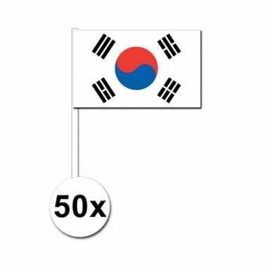 50 zwaaivlaggetjes zuid koreaanse vlag
