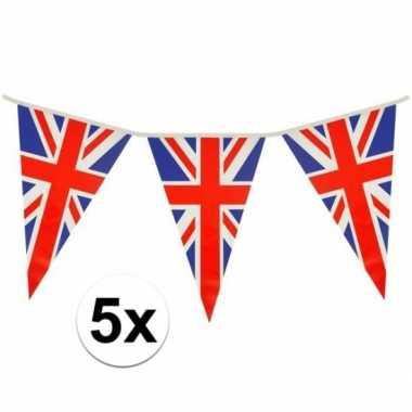 5x driehoeks vlaggenlijn groot brittannie 7mt