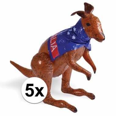 5x opblaas aussie kangoeroe 70