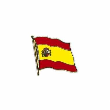 5x stuks pin broche vlag spanje/spaanse vlag