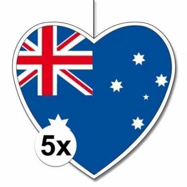 5x thema australie hangversiering hart 28