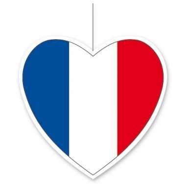 5x thema frankrijk hangversiering hart 14