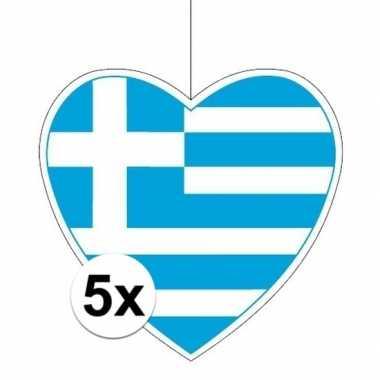 5x thema griekenland hangversiering hart 28