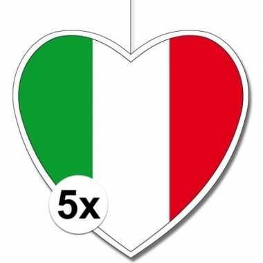 5x thema itali? hangversiering hart 28