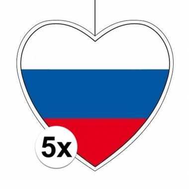 5x thema rusland hangversiering hart 28