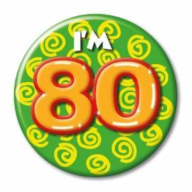 80 jaar button