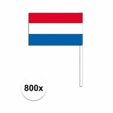 800x zwaaivlaggetjes nederlandse vlag