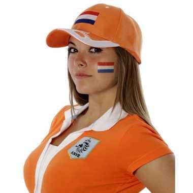 8x stuks landen vlag face tattoo nederland 2 6 4 5