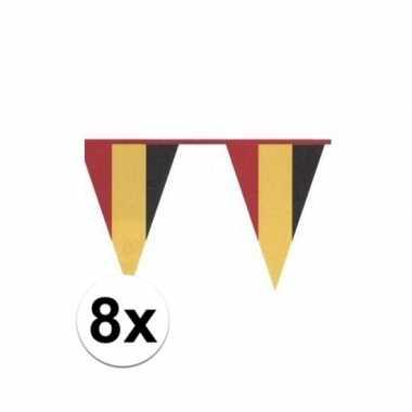 8x vlaggenlijn belgische kleuren