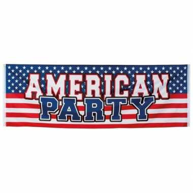 American thema party spandoek 220