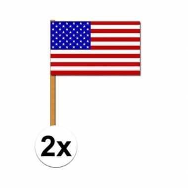 Amerikaanse zwaaivlag 2x